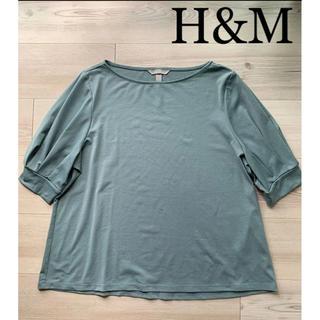 エイチアンドエム(H&M)の【H&M】ブラウス/カットソー/トップス(シャツ/ブラウス(半袖/袖なし))