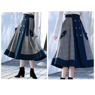 Ameri VINTAGE - 【AMERI】チェックトレンチスカート