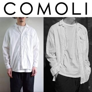 コモリ(COMOLI)の新品 COMOLI ベタシャン ユーティリティジャケット 白 ホワイト(シャツ)