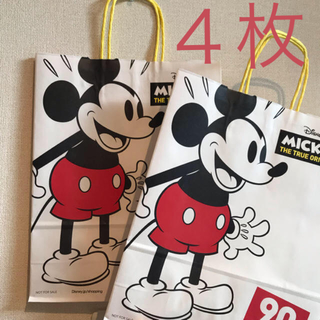 Disney - 4枚 ミッキー  ショップ袋