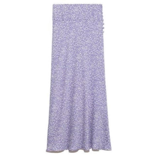 FRAY I.D(フレイアイディー)のバイヤスナローフラワースカート レディースのスカート(ロングスカート)の商品写真