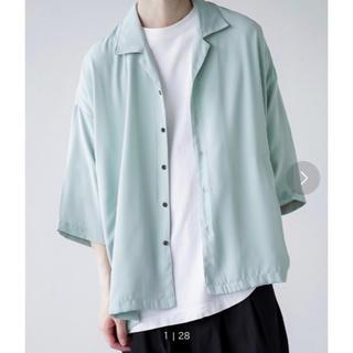 SUNSEA - remer ルーズオープンカラーシャツ