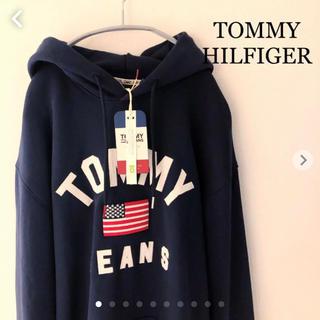 TOMMY HILFIGER - 新品タグ付き トミーヒルフィガー  パーカー ネイビー  Lサイズ