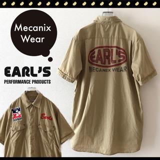 AVIREX - EARL'S 上野商会製★メカニックスシャツ★ワーク★ピットシャツ