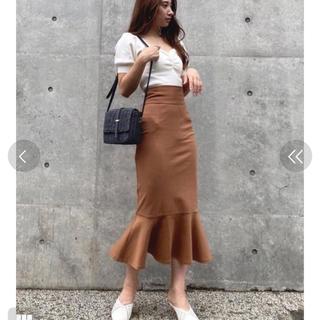 rienda H/W SK/カットマーメイド ハイウエスト スカート