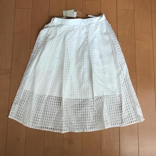ブージュルード(Bou Jeloud)の【Bou Jeloud】チュールスカート★ホワイト(ひざ丈スカート)