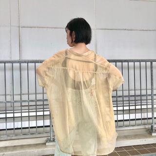 Kastane - ☆新作 完売色 Kastane 着回し シャイニーシフォンビッグシャツ