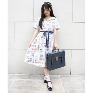 F i.n.t - ☆今季完売品 F i.n.t マルシェロゴプリント開衿ワンピース