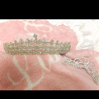 ディズニー(Disney)の【値下げ交渉お早めに】ウェディング ティアラ 結婚式  ブライダル プリンセス(ウェディングドレス)