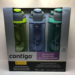 コストコ(コストコ)のcontigo コンティゴ ウォーターボトル 水筒 3本セット(水筒)
