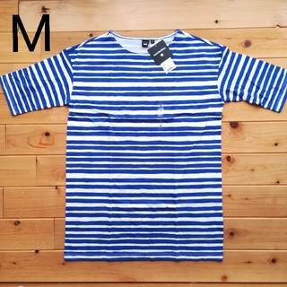 マリメッコ(marimekko)のMサイズ マリメッコ  marimekko  ユニクロ ボーダー ブルー 青(Tシャツ(長袖/七分))