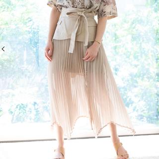 リリーブラウン(Lily Brown)のプリーツシアースカート(ひざ丈スカート)