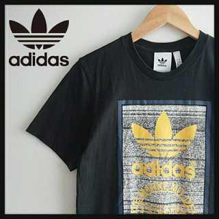 adidas - 1081【美品】アディダスオリジナルス デカロゴ Tシャツ 小さめ