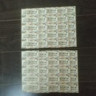 ヴィア・ホールディングス  株主割引券  500円×50枚 25000円分(レストラン/食事券)
