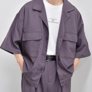 ハレ(HARE)のkutir CPOシャツ パープル 完売品 L(シャツ)
