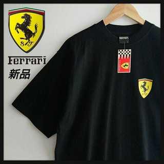 フェラーリ(Ferrari)の1095【タグ付/デッドストック】フェラーリ 両面プリントTシャツ ブラック L(Tシャツ/カットソー(半袖/袖なし))