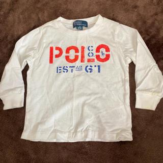 ポロラルフローレン(POLO RALPH LAUREN)のラルフローレン Ralph Lauren ロンT 美品 ホワイト シンプル(Tシャツ)