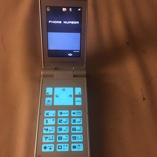 エヌイーシー(NEC)のdocomo N702iD グレー NEC ドコモ ガラケー 携帯〔判定○〕(携帯電話本体)
