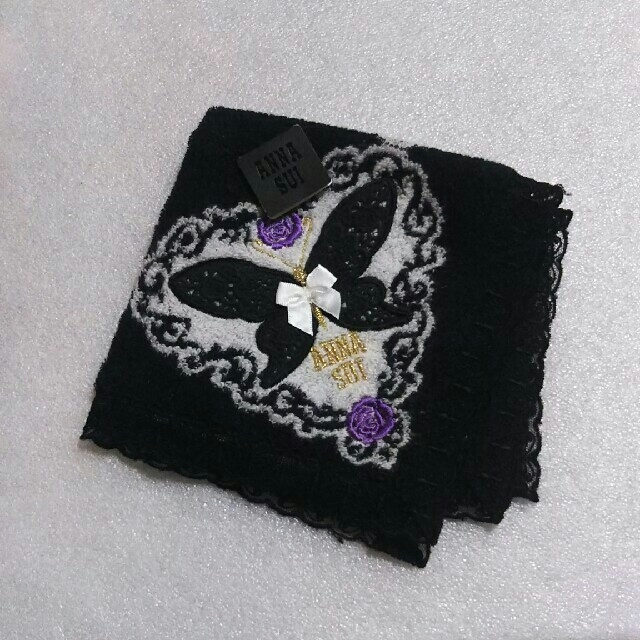 ANNA SUI(アナスイ)の値下げ📌アナスイ☆大判タオルハンカチ🌹31×31 レディースのファッション小物(ハンカチ)の商品写真