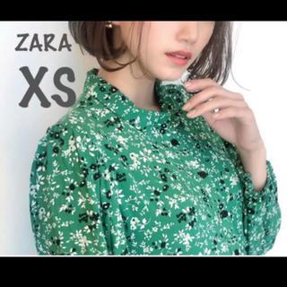 ZARA - 【新品・未使用】ZARA フラワー柄 ワンピース XS