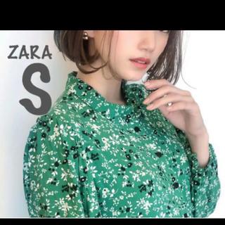 ZARA - 【新品・未使用】ZARA フラワー 柄 ワンピース S