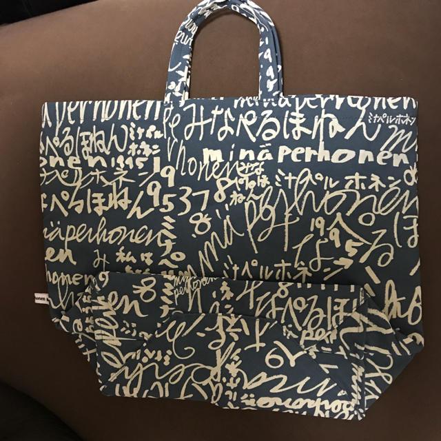 mina perhonen(ミナペルホネン)のミナペルホネン フロッキープリント バッグ 中 ミナペ minape レディースのバッグ(トートバッグ)の商品写真
