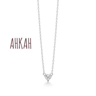 アーカー(AHKAH)のAHKAH k18ホワイトゴールド ダイヤ ネックレス(ネックレス)