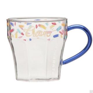 スターバックスコーヒー(Starbucks Coffee)の耐熱グラスマグクリーム355ml*スタバ(グラス/カップ)