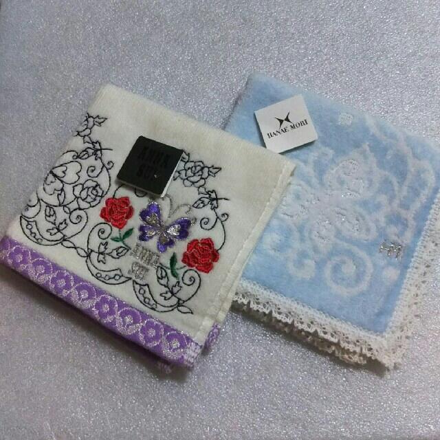 ANNA SUI(アナスイ)の値下げ📌アナスイ&ハナエモリ☆タオルハンカチ2枚セット レディースのファッション小物(ハンカチ)の商品写真