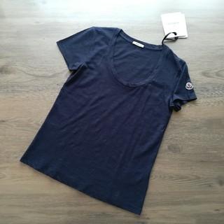 MONCLER - サイズM ダークネイビー 薄手のUネックTシャツ モンクレールレディース