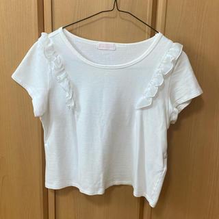 イーハイフンワールドギャラリー(E hyphen world gallery)のイーハイフン  肩フリル  タオル地 Tシャツ(Tシャツ(半袖/袖なし))