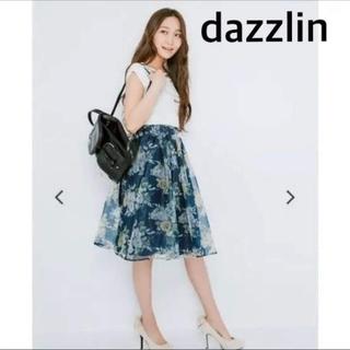 ダズリン(dazzlin)のダズリン オーガンジー 花柄スカート(ひざ丈スカート)