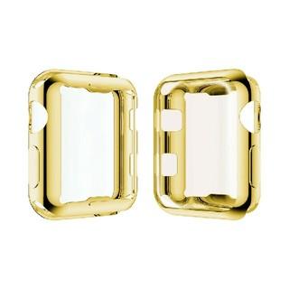 アップルウォッチ シリーズ 2/3 38mm 42mm 全面 保護 ケース 金(腕時計(デジタル))