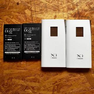 エヌティティドコモ(NTTdocomo)のLC09CジャンクNTTドコモ ルーター バッテリー付2台セット(バッテリー/充電器)