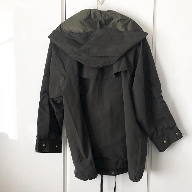 FRAMeWORK(フレームワーク)のFRAMeWORK フードミドルブルゾン3 サイズ36 レディースのジャケット/アウター(ブルゾン)の商品写真