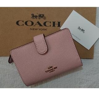 COACH - 最安値‼️コーチ COACH  二つ折り財布  春モデル  ブロッサム