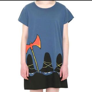 グラニフ(Design Tshirts Store graniph)のりかりこ様♡graniph すてきな3にんぐみ コラボ チュニックワンピース(ミニワンピース)