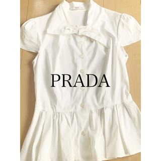 PRADA - PRADA プラダ リボンブラウス