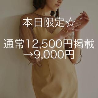 Ameri VINTAGE - アメリビンテージ TULLE SLEEVE TIGHT DRESS