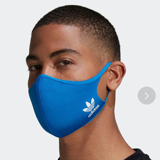 アディダス adidas マスク フェイスカバー M/L ブルー 3枚セット(その他)