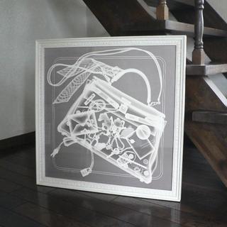 Hermes - エルメススカーフ ★カレ70★額装品★『プリーズ.チェックイン』