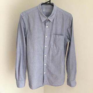 ムジルシリョウヒン(MUJI (無印良品))の無印良品 洗いざらしブロードシャツ 長袖 紳士 メンズ L ブルー(シャツ)