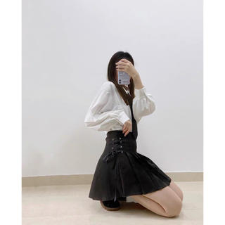 dholic - 夏服ミニスカート レディース 編み込みスカート   韓国ファッション