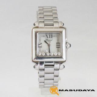 ショパール(Chopard)のショパールハッピースポーツスクエア7Pダイヤモンドシェル文字盤(腕時計)