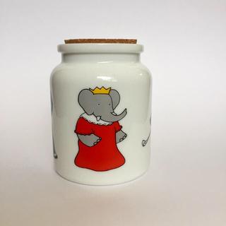ムジルシリョウヒン(MUJI (無印良品))のbabar 陶器の容器 白(容器)
