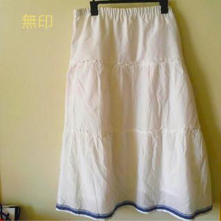 ムジルシリョウヒン(MUJI (無印良品))の無印 スカート 綿(ひざ丈スカート)