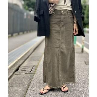 L'Appartement DEUXIEME CLASSE - 新品■UPPER HIGHTS■Corduroy Long スカート■カーキ34