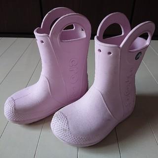 クロックス(crocs)のクロックス★ハンドルドイット レインブーツ 長靴18cm(C11)★中古(長靴/レインシューズ)