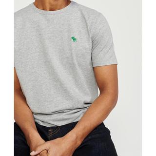 アバクロンビーアンドフィッチ(Abercrombie&Fitch)の【新品】S アバクロ アイコンTシャツ 送料込 グレー(Tシャツ/カットソー(半袖/袖なし))