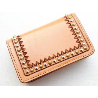 未使用保管 FUNNY ファニー レザー スタッズ ミドル ウォレット 財布(折り財布)